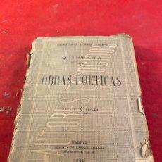 Livres d'occasion: OBRAS POÉTICAS - QUINTANA - 1880 MADRID. Lote 220938756