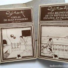 Livres d'occasion: COPLAS DE JUAN PANADERO. RAFAEL ALBERTI. DEDICATORIA MANUSCRITA DEL POETA (VER DESCRIPCIÓN). Lote 220945158