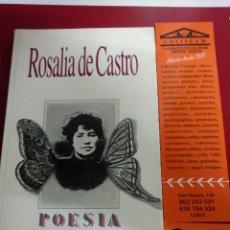 Libros de segunda mano: POESÍA ROSALÍA DE CASTRO .EDITORA BRASILIENSE 1987 , 2 ED. Lote 222119787
