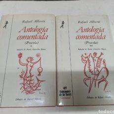 Libros de segunda mano: AUTOGRAFO CON DEDICATORIA Y DIBUJO DE RAFAEL ALBERTI Y ASUNCION MATEO ANTOLOGIA COMENTADA POESIA. Lote 222431718
