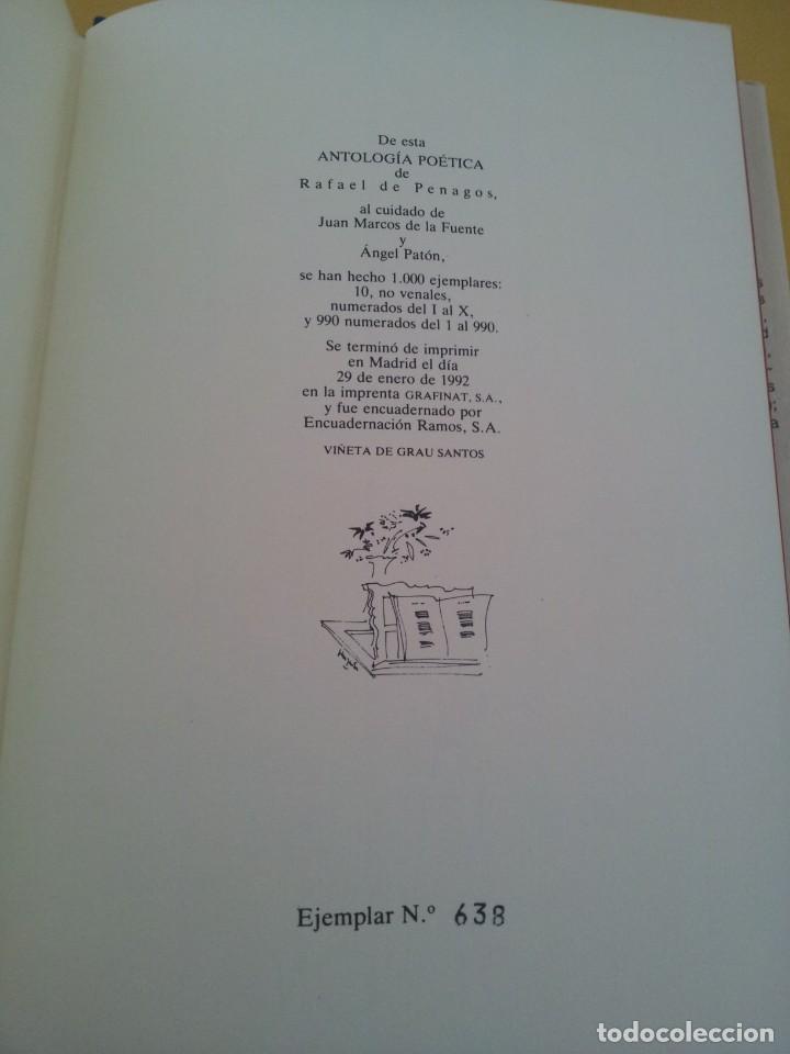 Libros de segunda mano: RAFAEL DE PENAGOS - ANTOLOGIA POETICA 1953-1991 - UNION EDITORIAL 1992 - DEDICADO POR EL AUTOR - Foto 10 - 222555262