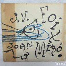 Libros de segunda mano: J.V. FOIX - JOAN MIRÓ - ES QUAN DORMO QUE HI VEIG CLAR. Lote 222575262