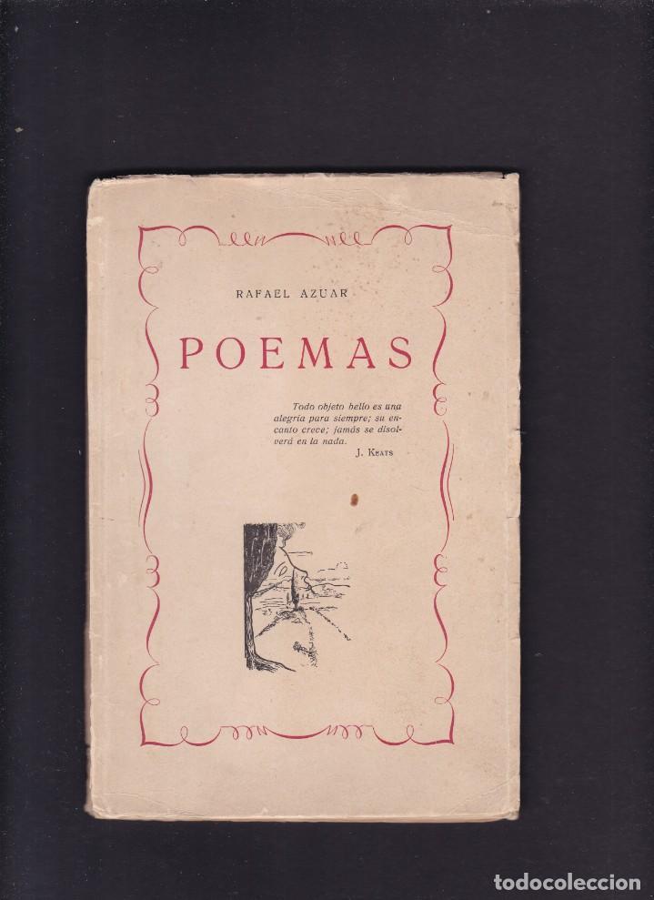 RAFAEL AZUAR - POEMAS - TARRAGONA 1950 (Libros de Segunda Mano (posteriores a 1936) - Literatura - Poesía)