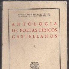 Libros de segunda mano: ANTOLOGIA DE POETAS LIRICOS CASTELLANOS X. PARTE 3. BOSCAN - A-POE-2005. Lote 222701356