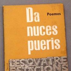 Livres d'occasion: RESERVADO - GABRIEL FERRATER - DA NUCES PUERIS - FRONTISPICI DE GARCIA LLORT - 1ª ED. 1960. Lote 222816010