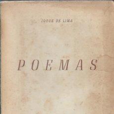 Libros de segunda mano: POEMAS, JORGE DE LIMA. Lote 222935623