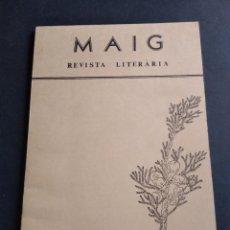 Libros de segunda mano: NÚMERO 1 MAIG REVISTA LITERARIA 1979. Lote 223346193