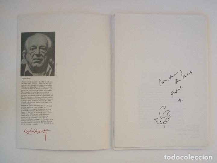 Libros de segunda mano: RAFAEL ALBERTI Y MANUEL RIVERA: POEMAS Y DIBUJOS - CULTURAL ALBACETE - CON DEDICATORIA A PACO RABAL - Foto 2 - 225590210