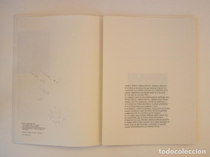 Libros de segunda mano: RAFAEL ALBERTI Y MANUEL RIVERA: POEMAS Y DIBUJOS - CULTURAL ALBACETE - CON DEDICATORIA A PACO RABAL - Foto 3 - 225590210