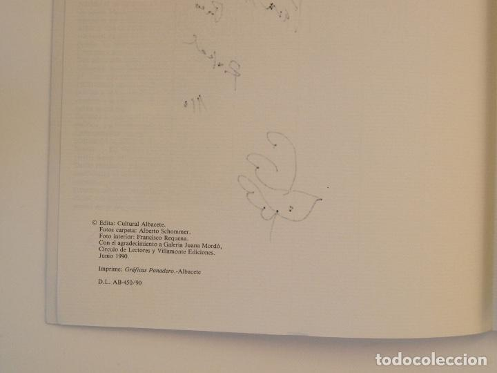 Libros de segunda mano: RAFAEL ALBERTI Y MANUEL RIVERA: POEMAS Y DIBUJOS - CULTURAL ALBACETE - CON DEDICATORIA A PACO RABAL - Foto 4 - 225590210