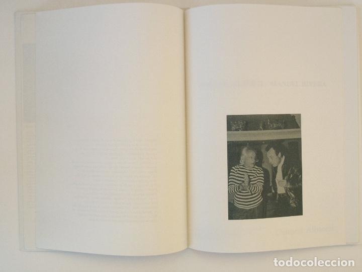 Libros de segunda mano: RAFAEL ALBERTI Y MANUEL RIVERA: POEMAS Y DIBUJOS - CULTURAL ALBACETE - CON DEDICATORIA A PACO RABAL - Foto 5 - 225590210