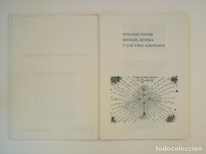 Libros de segunda mano: RAFAEL ALBERTI Y MANUEL RIVERA: POEMAS Y DIBUJOS - CULTURAL ALBACETE - CON DEDICATORIA A PACO RABAL - Foto 8 - 225590210