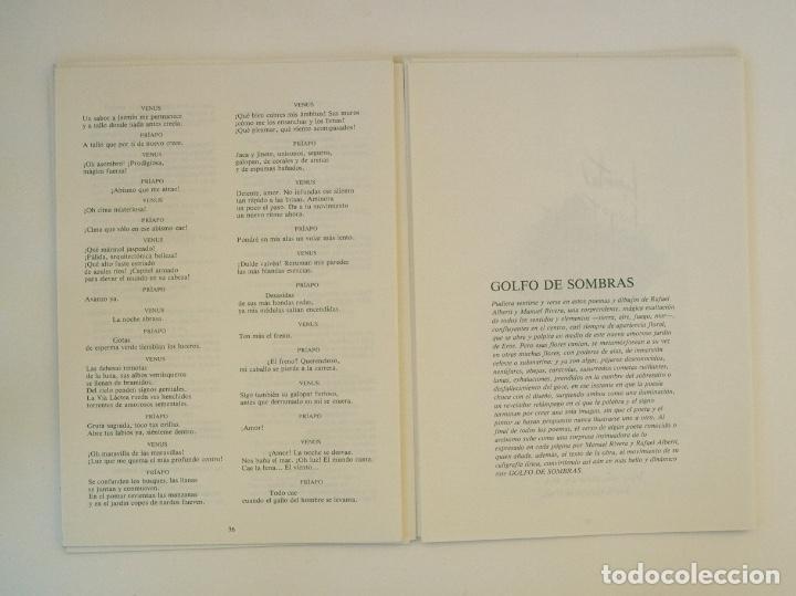 Libros de segunda mano: RAFAEL ALBERTI Y MANUEL RIVERA: POEMAS Y DIBUJOS - CULTURAL ALBACETE - CON DEDICATORIA A PACO RABAL - Foto 10 - 225590210