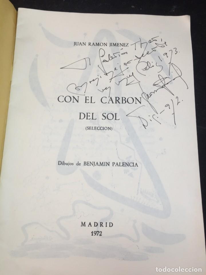 CON EL CARBÓN DEL SOL (SELECCIÓN.) DIBUJOS DE BENJAMÍN PALENCIA. JUAN RAMÓN JIMÉNEZ, 1972 (Libros de Segunda Mano (posteriores a 1936) - Literatura - Poesía)