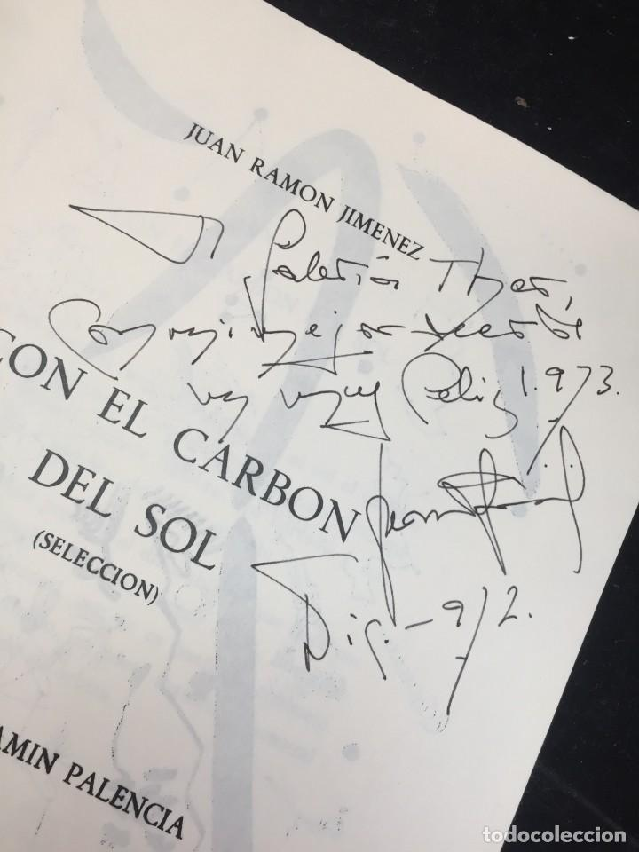 Libros de segunda mano: CON EL CARBÓN DEL SOL (Selección.) Dibujos de Benjamín Palencia. Juan Ramón JIMÉNEZ, 1972 - Foto 2 - 229653565