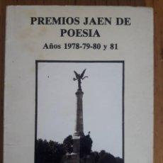 Libros de segunda mano: PREMIOS JAEN DE POESIA AÑOS 1978-79-80 Y 81 / CLUB 63 JAEN. Lote 230265760