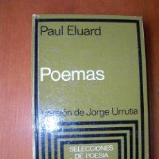 Livros em segunda mão: POEMAS / PAUL ELUARD / FRANCÉS - ESPAÑOL. Lote 230214305