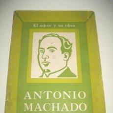 Libros de segunda mano: EL AUTOR Y SU OBRA. ANTONIO MACHADO. INSTITUTO CUBANO DEL LIBRO. 1974. Lote 231231310