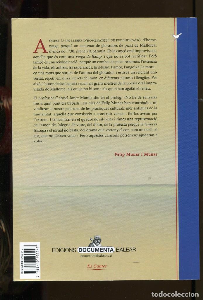Libros de segunda mano: F. Munar. La universalitat de la Glosa. Gloses mallorquines de picat 1735-2011. Mallorca 2017. nou - Foto 2 - 232122330