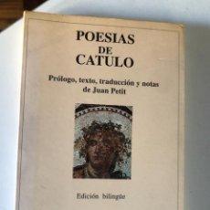 Libros de segunda mano: POESÍAS DE CÁTULO (EL BARDO, COLECCIÓN DE POESÍA). Lote 232464665