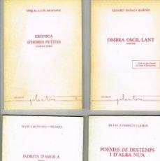 Libros de segunda mano: 4 LLIBRES DE POESIA EDITORIAL DALMAU COL-LECCIÓ PLECTRE INDRETS D'ARGILA LAFONTANA 1981. Lote 234383130