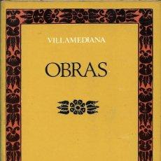 Libros de segunda mano: OBRAS, VILLAMEDIANA. Lote 235175990