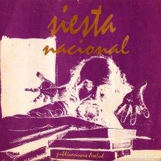 Libros de segunda mano: REVISTA SIESTA NACIONAL. VARIOS AUTORES. BOLIVIA. NÚMERO 1. POESÍA.. Lote 235593660