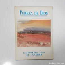 Libros de segunda mano: PUREZA DE DIOS. JOSÉ RAÚL DÍAZ VIERA. EL CANARIO. DEDICADO POR EL AUTOR. ILUSTRACIONES. 1991.PINTURA. Lote 236054730