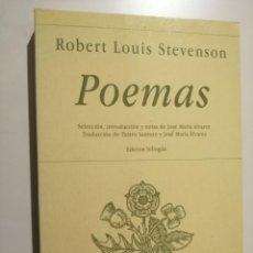 Libros de segunda mano: POEMAS ROBERT LOUIS STEVENSON HIPERIÓN. Lote 236187380