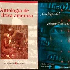 Libros de segunda mano: LOTE 2 LIBROS ANTOLOGIA DE LA LIRICA AMOROSA Y CUENTO LITERARIO - VICENS VIVES ALHAMBRA MIGUEL DÍEZ. Lote 237020585
