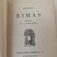Libros de segunda mano: RIMAS DE BÉCQUER,. Lote 237713710