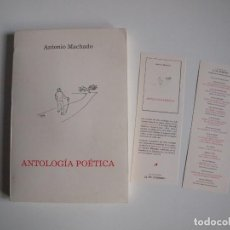 Libros de segunda mano: ANTONIO MACHADO - ANTOLOGÍA POÉTICA - COL. 22 DE FEBRERO - GOBIERNO DE CANTABRIA - SANTANDER 2020. Lote 239546395