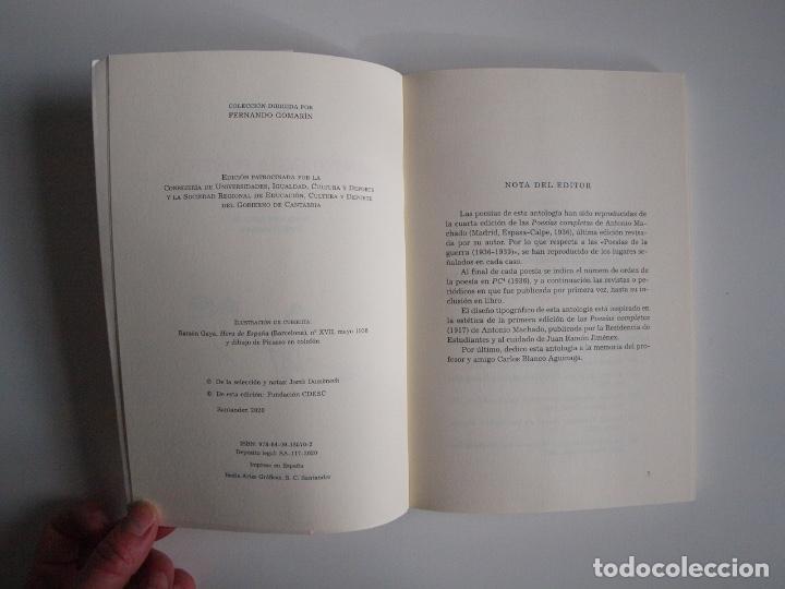 Libros de segunda mano: ANTONIO MACHADO - ANTOLOGÍA POÉTICA - COL. 22 DE FEBRERO - GOBIERNO DE CANTABRIA - SANTANDER 2020 - Foto 5 - 239546395