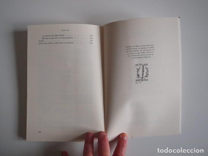Libros de segunda mano: ANTONIO MACHADO - ANTOLOGÍA POÉTICA - COL. 22 DE FEBRERO - GOBIERNO DE CANTABRIA - SANTANDER 2020 - Foto 9 - 239546395