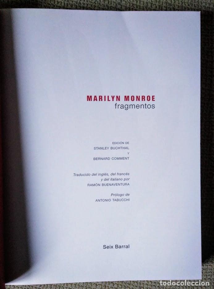 Libros de segunda mano: Marilyn Monroe. Fragmentos, notas personales, poemas... Seix Barral, 2010. - Foto 4 - 239591945