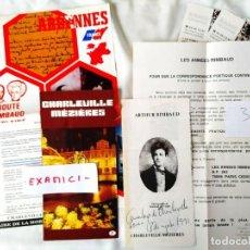 Libros de segunda mano: 1991 - LOTE DE DOCUMENTOS - PRIMER CENTENARIO DE LA MUERTE DE ARTHUR RIMBAUD - CHARLEVILLE - FRANCIA. Lote 239704880