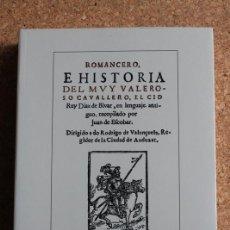 Libros de segunda mano: ROMANCERO E HISTORIA DEL MUY VALEROSO CAVALLERO, EL CID RUIZ DÍAZ DE BIVAR, EN LENGUAJE ANTIGUO,.... Lote 242139705