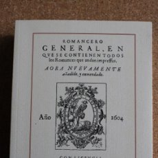 Libros de segunda mano: ROMANCERO GENERAL, EN QUE SE CONTIENEN TODOS LOS ROMANCES QUE ANDAN IMPRESSOS.. Lote 242140720