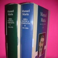 Libros de segunda mano: OBRA POETICA COMPLETA - MANUEL MARIA - 2 TOMOS - ESPIRAL MAIOR 2001 - ( GASTO ENVIO GRATIS ). Lote 244663565