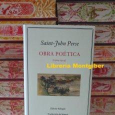 Libros de segunda mano: OBRA POETICA (1904 - 1974) . AUTOR : PERSE , SAINT-JOHN. Lote 244694445