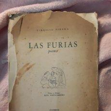 Libros de segunda mano: LAS FURIAS (POEMA), DE VIRGILIO PIÑERA. ESPUELA DE PLATA 1941. SOLO 120 EJEMPLARES. 25X18. Lote 244702505