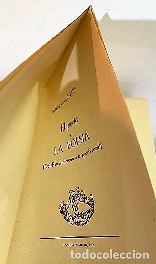 Libros de segunda mano: El Poeta y la Poesia de Birute Ciplijauskaite. - Foto 2 - 245205930