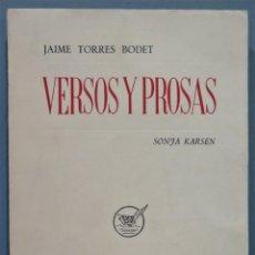 Libros de segunda mano: VERSOS Y PROSAS. KARSEN. Lote 245292690
