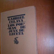 Libros de segunda mano: LOS POEMAS DE JUAN DE LECETA / GABRIEL CELAYA. Lote 246358285