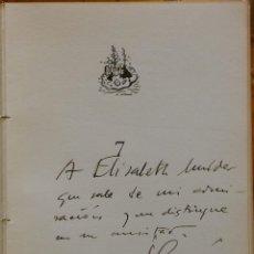 Libros de segunda mano: IBIZA, JUAN-GERMAN SCHRODER. SANTANDER, 1951. EJEMPLAR DEDICADO A LA ESCRITORA ELISABETH MULDER. Lote 247440140