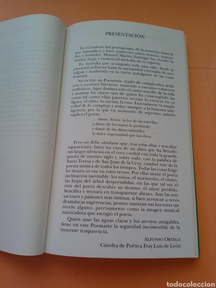 Libros de segunda mano: 1995 SOSTENIDOS Y BEMOLES, POEMARIO, MANUEL MARTIN SANTIAGO, TAPA BLANDA - Foto 3 - 247692535