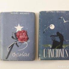 Libros de segunda mano: CANCIONES Y POESÍAS - ANTONIO Y MANUEL MACHADO. Lote 248574755