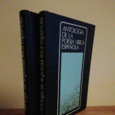 Libros de segunda mano: ANTOLOGÍA DE LA LÍRICA ESPAÑOLA SALVAT -II TOMOS-. Lote 252817480
