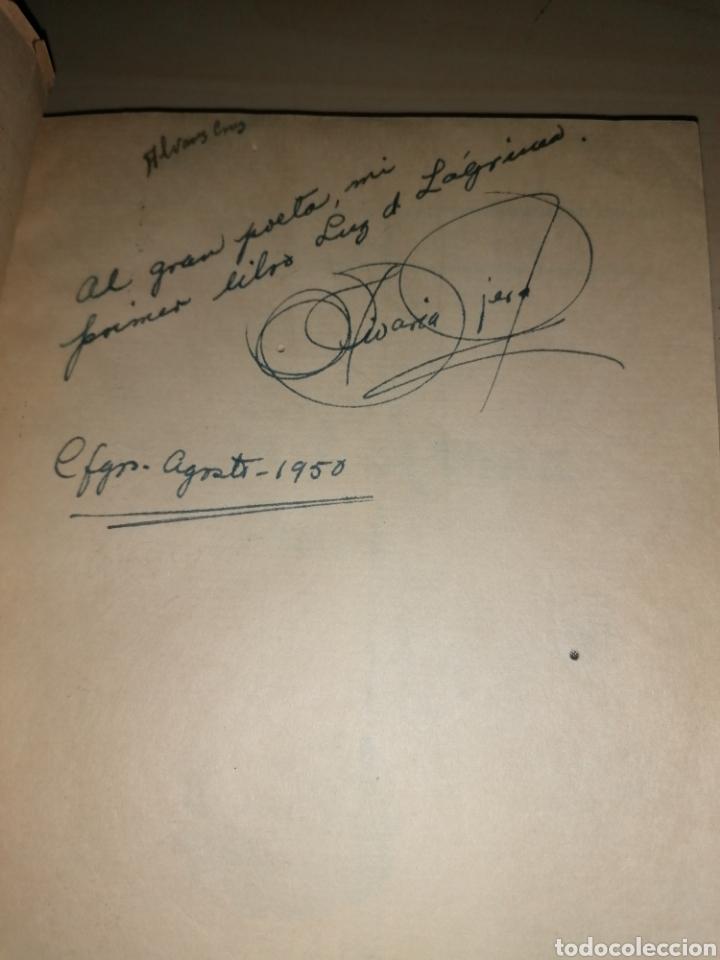 Libros de segunda mano: Nivaria Tejera Montejo - LUZ DE LAGRIMA - Poesías - Dedicado autora - 1950 - Foto 2 - 252947060