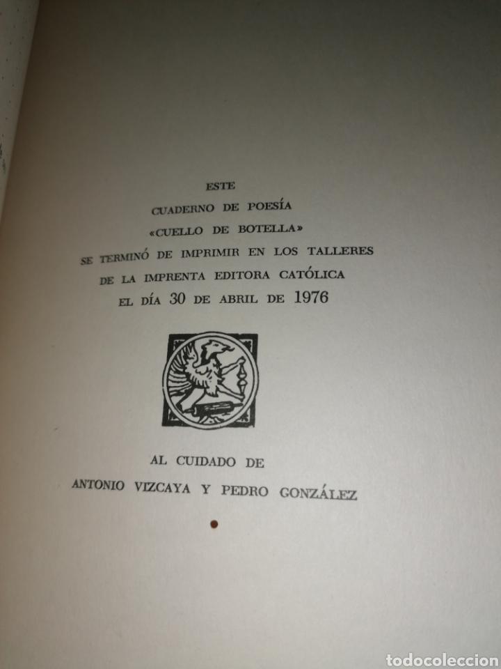 Libros de segunda mano: Cuello de Botella - FÉLIX CASANOVA DE AYALA - FÉLIX FRANCISCO CASANOVA MARTÍN - Dedicado autor - Foto 9 - 253038385
